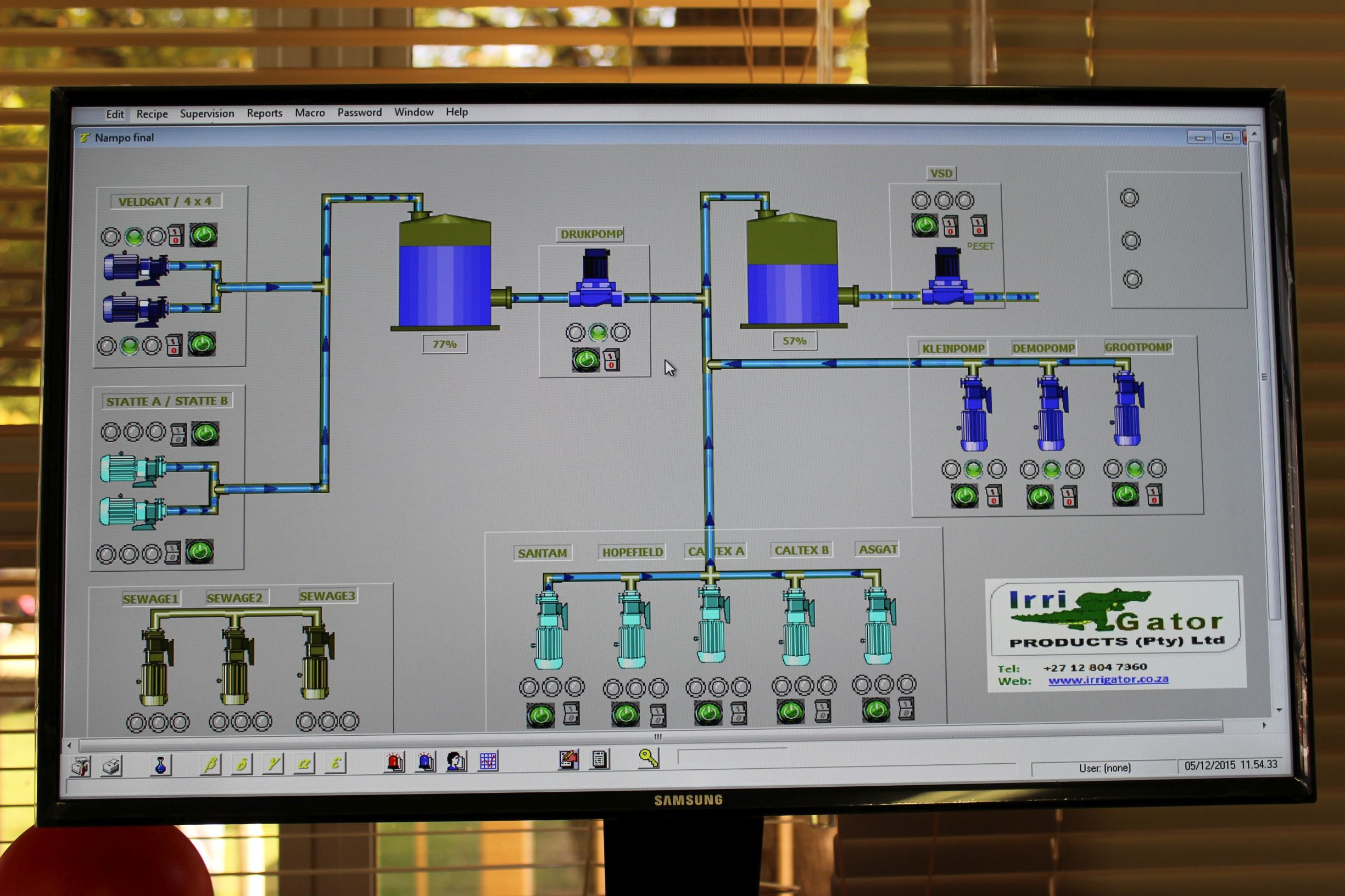 Flexible control options using a PLC. – Irri-Gator South Africa